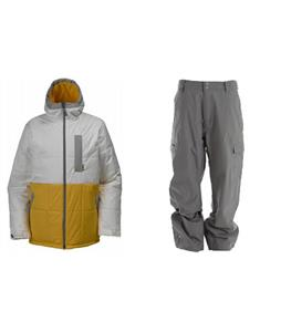 Burton Ante Up Puffy Jacket w/ Quiksilver Drill Shell Pants