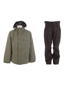 Burton Bad Moon Rising Jacket w/ Boulder Gear Deluxe Cargo Pants