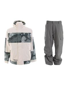 Burton Cosmic Delight Jacket w/ Quiksilver Drill Shell Pants