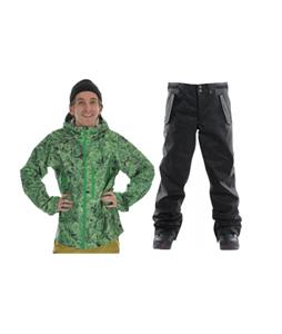 Burton Idiom Continuum 2.5L Jacket w/ Foursquare Draft Pants