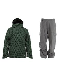 Burton Launch Jacket w/ Quiksilver Drill Shell Pants