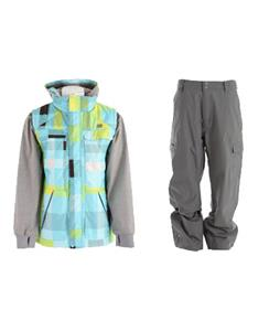 DC Silverton Jacket w/ Quiksilver Drill Shell Pants
