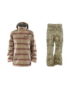 Foursquare Truss Jacket w/ Burton Cargo Pants