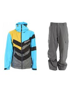 Grenade Chevron Jacket w/ Quiksilver Drill Shell Pants
