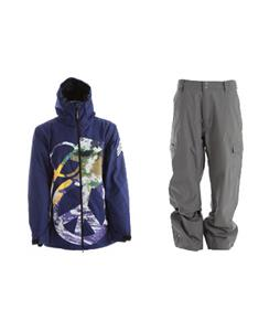Grenade Peace Bomb Jacket w/ Quiksilver Drill Shell Pants