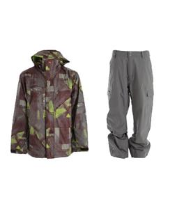 Quiksilver Last Mission Prints Jacket w/ Quiksilver Drill Shell Pants