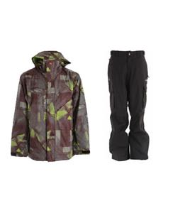 Quiksilver Last Mission Prints Jacket w/ Trespass Acknowledgement Pants
