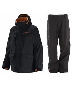 Special Blend Circa Jacket w/ Quiksilver Drill Shell Pants