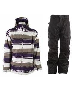 Sessions Truth Retro Stripe Jacket w/ Gravity Bennie Insulated Pants