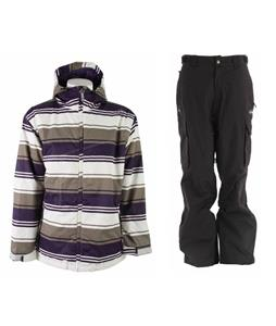 Sessions Truth Retro Stripe Jacket w/ Trespass Acknowledgement Pants