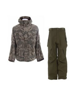 Burton Arctic Jacket Mosaic Hazel w/ Sessions Zoom Pants Fatigue Green