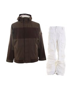 Burton Cosmic Delight Jacket Mocha w/ Burton Ronin Cargo Pants Leopard