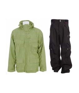 Foursquare Wright Jacket Da Nile Logo Grid w/ Foursquare Q Pants Black Hatch