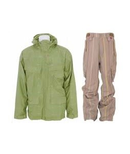 Foursquare Wright Jacket Da Nile Logo Grid w/ Foursquare Boswell Pants Tan A Poppin