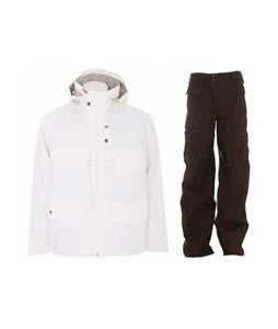 Foursquare Wright Jacket White w/ Burton Ronin Cargo Pants Mocha