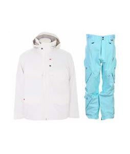 Foursquare Wright Jacket White w/ Foursquare Q Pants Keep Cool