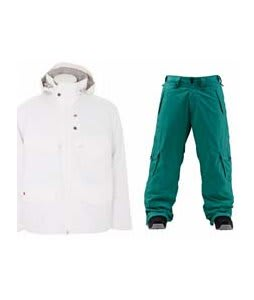 Foursquare Wright Jacket White w/ Foursquare Wong Pants Emerald