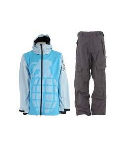 Grenade Exploiter Jacket Blue w/ Sessions Cargo Cargo Pants Gunmetal