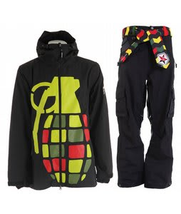 Grenade Exploiter Jacket Rasta w/ Sessions Bozung Pants Black Magic