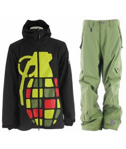 Grenade Exploiter Jacket Rasta w/ Sessions Achilles Pants Lime