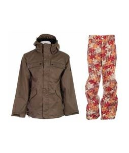 Ride Pioneer 3 In 1 Jacket Canteen w/ Foursquare Wong Pants Fall Leaves