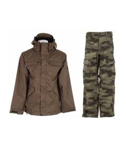 Ride Pioneer 3 In 1 Jacket Canteen w/ Sessions Movement Pants Green Camo