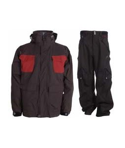 Sessions Combaticon Jacket Brown/Chimayo w/ Foursquare Q Pants Black Hatch