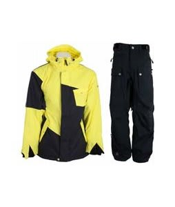 Sessions Istodis Jacket Citron w/ Sessions Tinker Pants Black Magic