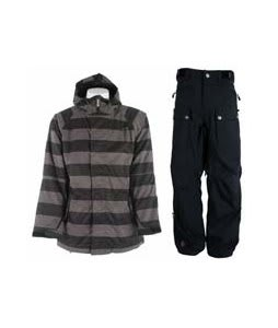 Sessions Kreuger Heather Stripe Jacket Black Heather Stripe w/ Sessions Tinker Pants Black Magic