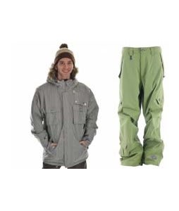 Sessions Premise Jacket Silver w/ Sessions Achilles Pants Lime