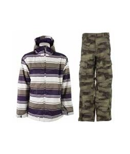 Sessions Truth Retro Stripe Jacket Purple Retro Stripe w/ Sessions Movement Pants Green Camo