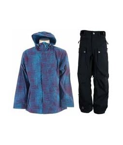Sessions Truth Jacket Grape Scratch w/ Sessions Tinker Pants Black Magic
