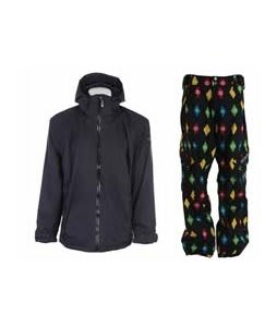 Sessions Work Jacket Black Magic w/ Sessions Gridlock Pants Black Multi Stargyle