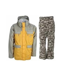 Special Blend Brigade Jacket Olive Grey w/ Burton Vent Pants Shadow Camo Print