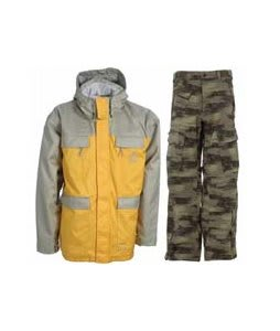 Special Blend Brigade Jacket Olive Grey w/ Sessions Movement Pants Green Camo