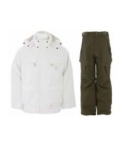 Special Blend Brigade Jacket White Invader w/ Sessions Zoom Pants Fatigue Green