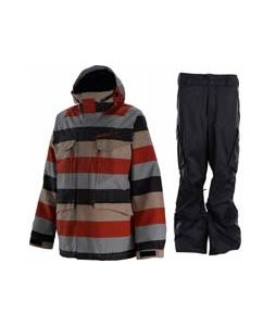 Special Blend Circa Jacket Big Stripe Red Army w/ Burton Fife Pants True Black