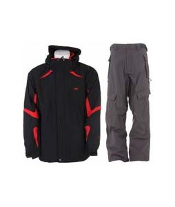 Trespass Horgan Jacket Black w/ Sessions Cargo Cargo Pants Gunmetal