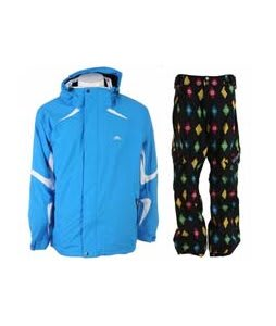 Trespass Horgan Jacket Cobalt w/ Sessions Gridlock Pants Black Multi Stargyle