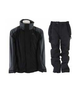 Trespass Robust Jacket Black w/ Trespass Glasto Snow Pants Black