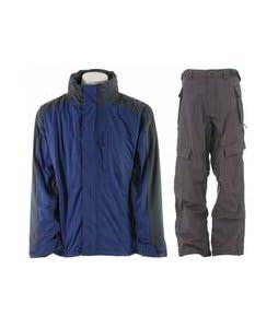 Trespass Robust Jacket Blue Tone w/ Sessions Cargo Cargo Pants Gunmetal