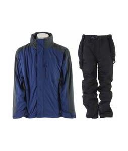Trespass Robust Jacket Blue Tone w/ Trespass Glasto Snow Pants Black