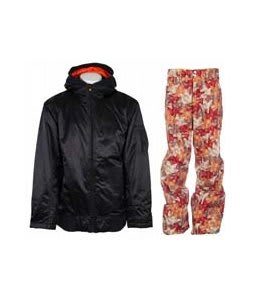 Vans Dtl Bomber Insulated Jacket Vans Black w/ Foursquare Wong Pants Fall Leaves
