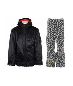 Vans Dtl Bomber Insulated Jacket Vans Black w/ Sessions Neff Print Pants White/Black