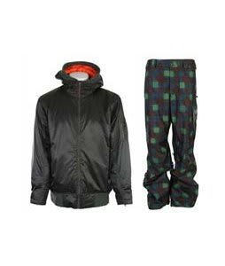 Vans DTL Bomber Jacket Installation Green w/ Burton Poacher Pants Mocha Native Plaid