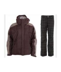 Bonfire Fusion Strobe Jacket Sangria/Slate w/ Burton Mighty Pants True Black Plaid