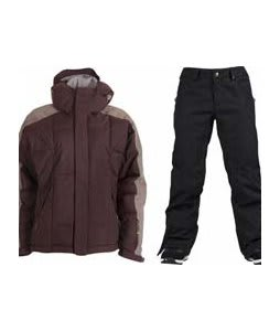 Bonfire Fusion Strobe Jacket Sangria/Slate w/ Burton Union Pants True Black