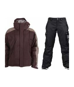 Bonfire Fusion Strobe Jacket Sangria/Slate w/ Burton Fly Pants True Black/Dobby