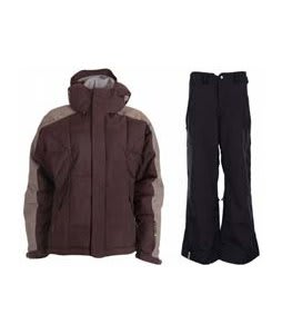 Bonfire Fusion Strobe Jacket Sangria/Slate w/ Bonfire Evolution Pants Black