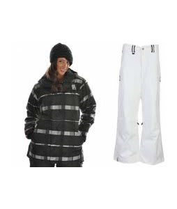 Bonfire Presto Jacket Black w/ Bonfire Evolution Pants Silk